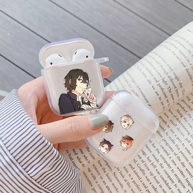 Japan Anime Bungou Anjing Liar Dazai Osamu Silikon untuk Apple Airpods 1 2 Case Nirkabel Earphone Aksesoris Tritone