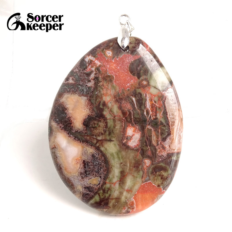 Handmade real crystal pendants  with real druzy stone