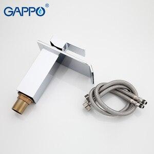 Image 5 - Смеситель для ванной комнаты GAPPO, Широкий водопад, хромированный полированный кран, крепление на раковину