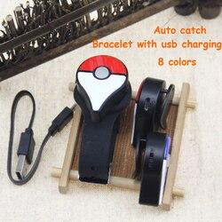 Новейший Bluetooth браслет с автоматической ловлей для Pokemon GO Plus с перезаряжаемой батареей внутри