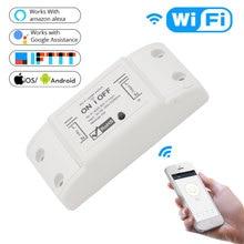 Nashone 2 Piece DIY WiFi Smart Light Switch 90-250V 10A Wireless Remote Domotica Home Works with  Alexa Google