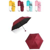 Pacchetto Capsule 4 colori ombrello Mini tasca piccola leggera 5 ombrelli pieghevoli custodie compatte Anti-UV DW009