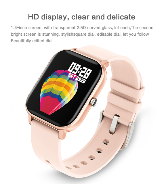 Women Men Smart Electronic Watch Luxury Blood Pressure Digital Watches Fashion Calorie Sport Wristwatch DND Mode For Android IOS 4