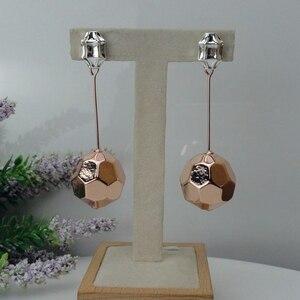 Image 3 - Yuminglai 24K Dubai Gold Earrings Italian Dangle Earrings for Women FHK9037