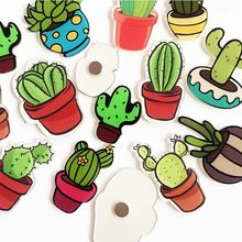 5pc/set Creative Fridge Magnets Stickers Cute Cactus Succulents Soft Magnetic Refrigerator Sticker Home Kitchen Decorations(China)