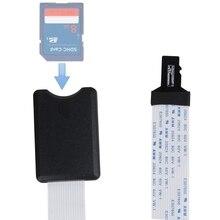 TF Micro SD męski na SD żeński SDHC SDXC elastyczne przedłużenie kabel Adapter przedłużacz do nawigacja samochodowa GPS TV 48cm/60cm