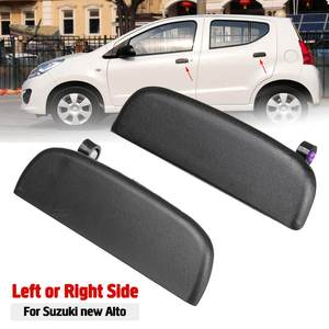 Car Front Rear Outer Exterior Door Open Handle Outside Door Knob Left Right Black For Suzuki New Alto(China)