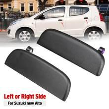Manija de la puerta Exterior y delantera del coche, manija abierta de la puerta Exterior, izquierda, derecha, negra para Suzuki, nuevo, Alto