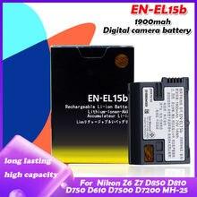 7.0V 1900Mah EN-EL15b ENEL15B En EL15b Oplaadbare Camera Batterij Voor Nikon Z6 Z7 D850 D810 D800 D780 D750 d610 D600 D500 D7500