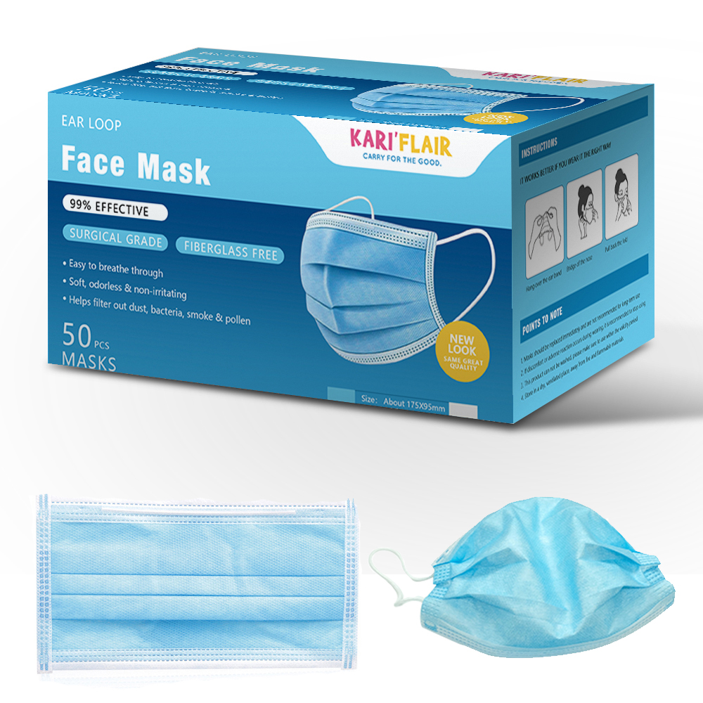 Image 3 - 50Pcs Disposable Medical Masks Anti flu PM2.5 Protective Face  Mouth Masks Anti nCoV Influenza Bacterial Facial Dust Proof Safety  -