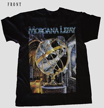 MORGANA LEFAY-santificado-de metal progresivo negro T_shirt - SIZESS a 6XL(China)