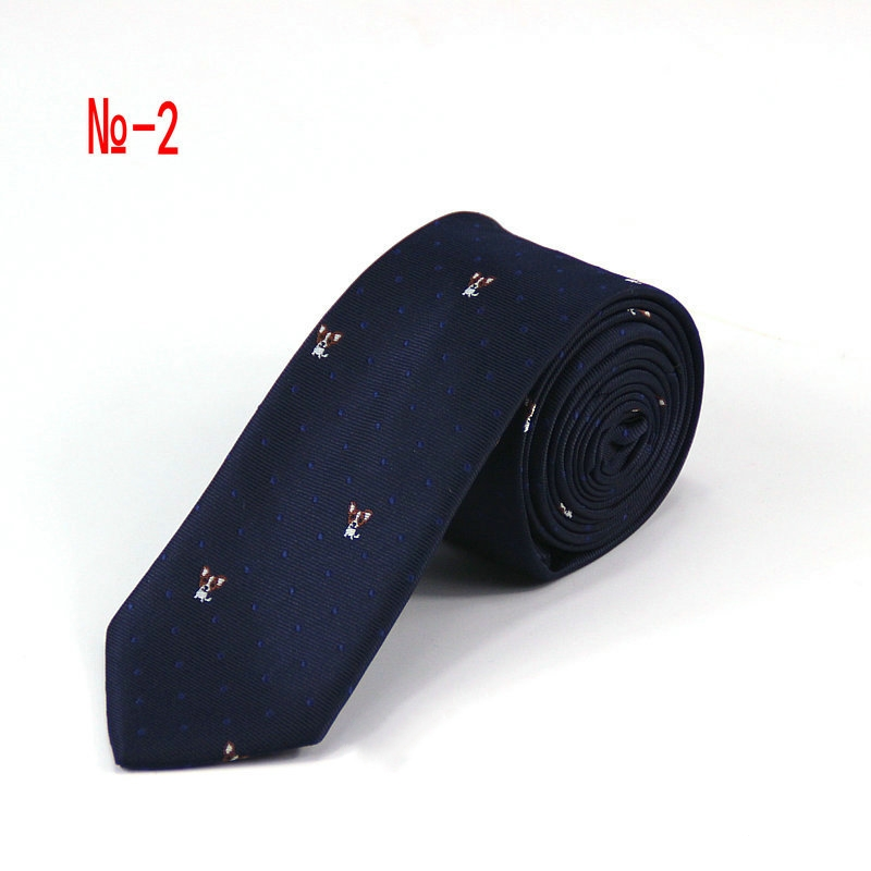 Fashion 6 Cm Mens Necktie Tailored Ensembles Tie Woven Dog Anchor Helmsman Pattern