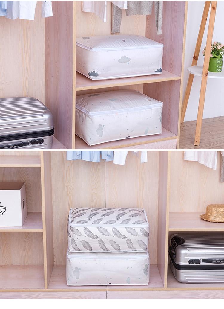 Foldable Quilt Blanket Storage Bag Moisture-proof Dust-proof Storage Bag Large Capacity Clothing Sorting Bag Household Organizer