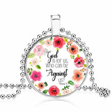 LISTE&LUKE bible verse necklace god is in her she will not fall scripture quote jewelry for women men christian faith gifts(China)