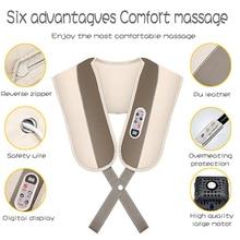 【Free shipping】Massage Schal Elektrische Massage Shiatsu Zurück Schulter Körper Neck Massager
