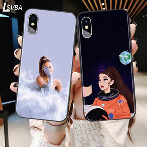 Thank U Next Ariana Grande Back Silicone Phone Case For Apple iPhone 11 Pro XS Max X XR 6S 6 7 8 Plus 5S Se Soft Black Cover(China)