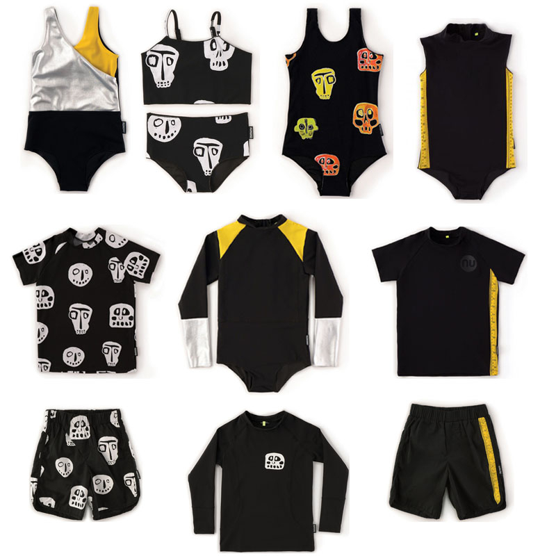 Kids Swimwear Sets 2020 Brand New Summer Boys Girls Skull Print Swimsuits Baby Child Fashion Beach Cute Swimwears Baby 1-11 T