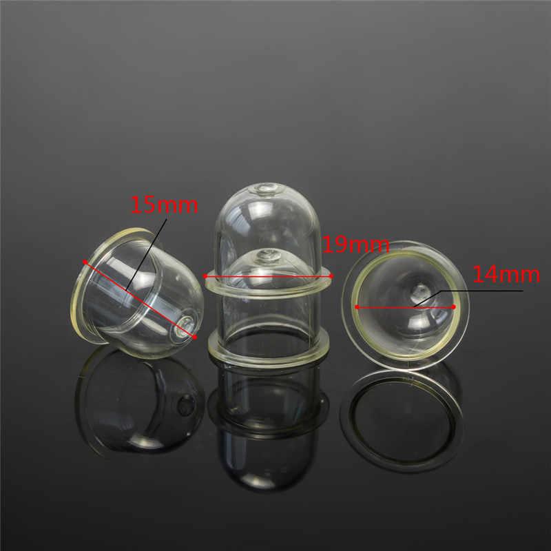 新 10 個キャブレター部品燃料プライマー電球ポンプキャップチェーンソーブロワートリマートリマー
