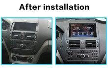 Autoradio Android 9, 4 go/64 go, dvd, navigation GPS, unité centrale, Audio/vidéo, stéréo, enregistreur cassette, pour voiture Mercedes Benz classe C W204 C200 (2007 – 2014)