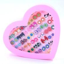 36 pares/set brincos de polímero, moda sortido, argila, brincos stud, conjunto artesanal, frutas, desenhos animados, brincos para mulheres, meninas, crianças, com caixa