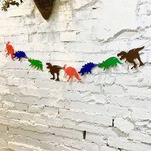 Dinosaur Theme Party Decoration Banner Cartoon Animal Birthday Banner Kids Adults Birthday Bunting Garland Flags Party Supplies space banner party decoration baby shower birthday banner party supplies kids boy girl birthday decoration bunting garland flags