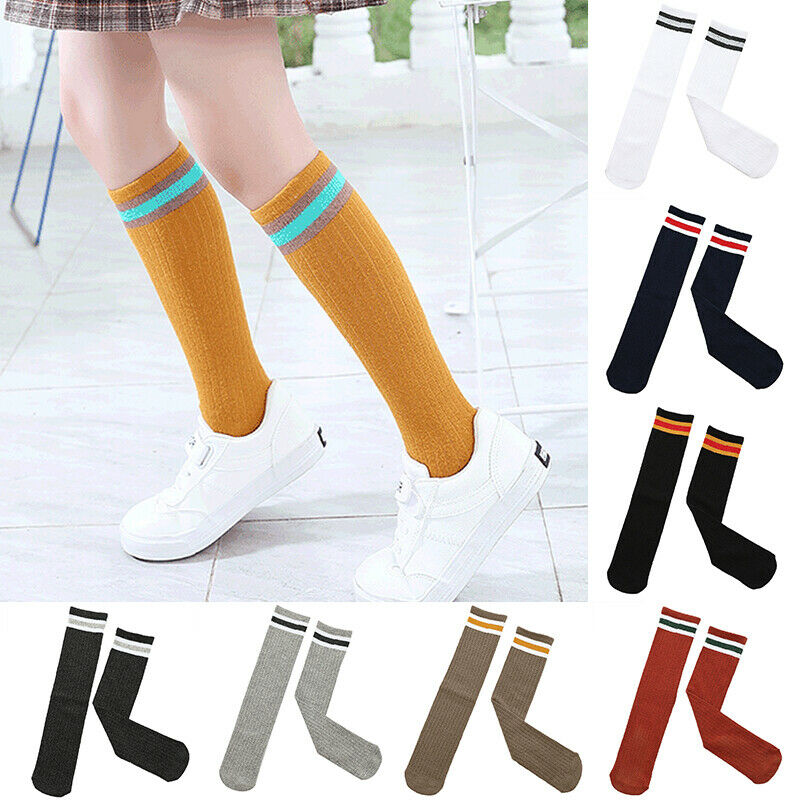 Pudcoco 3-8 Years Baby Kids Toddlers Girls Knee High Socks Tights Leg Warmer Mid Tube Stockings