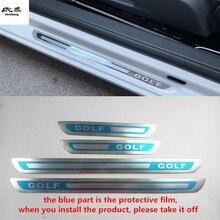 4 шт./лот ультра-тонкая Нержавеющая сталь Дверная педаль подоконника Накладка для 2008- Фольксваген Гольф 6 MK6 Гольф 7 MK7