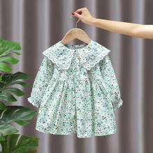 Spring fall baby girl's clothes outfit floral dress for 1 2 3 4 5 6 years baby birthday children girl's clothing dresses dress