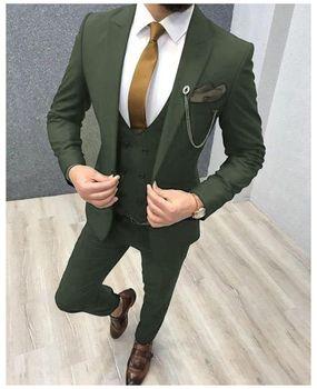 Three Piece Royal Blue Men Suits Peaked Lapel Custom Made Wedding Tuxedos Slim Fit Male Suits (Jacket + Pants + Vest+Tie) 11