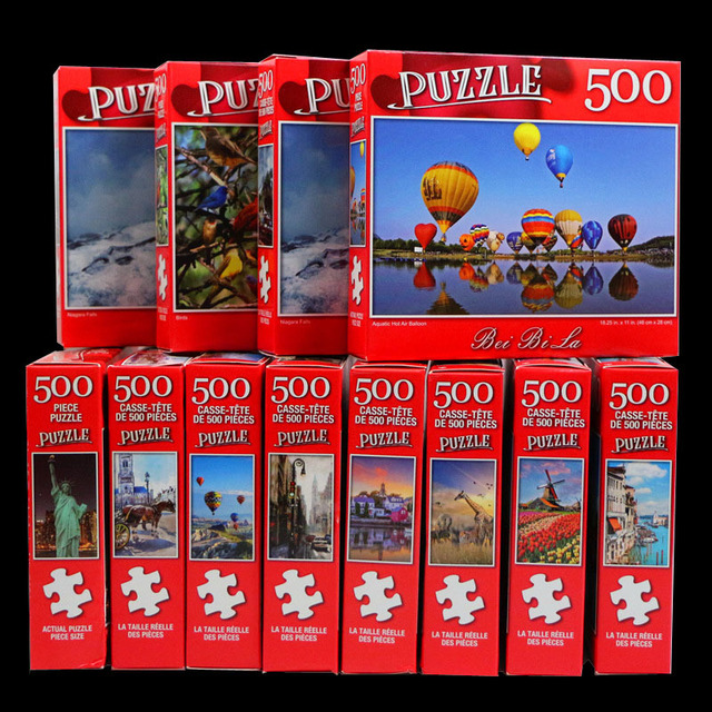 Jigsaw Puzzle Set 500 Pieces Various Landscape Patterns Jigsaw Puzzle Educational Toy for Kids Children 's Games Christmas Gift 4