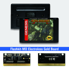Soldiers of Fortune   USA Label Flashkit MD Electroless Gold PCB Card for Sega Genesis Megadrive Video Game Console