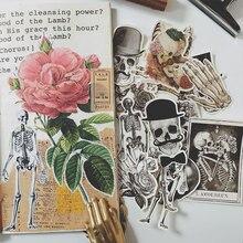 14 adet/takım Retro seksi iskelet kemik kafatası Vintage Sticker DIY zanaat Scrapbooking albümü dergisi mutlu planlayıcısı dekoratif çıkartmalar