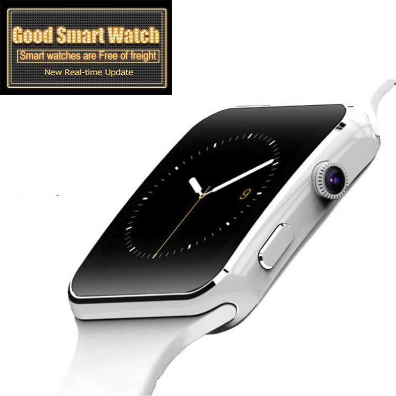 Nova chegada x6 relógio inteligente com tela de toque da câmera apoio sim tf cartão bluetooth smartwatch reloj apple relógio masculino