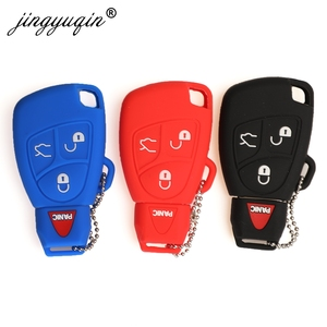 Image 2 - jingyuqin Silicone Cover For Mercedes Benz B C E ML S CLK CL 3/4 Buttons Rubber Skin Remote Key Fob Case