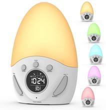 Touch Sensor Wake-Up Light Wekker Met Zonsopgang En Zonsondergang Simulatie, kids Nachtlampje Wekker Met Slaap Training
