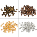 Обжимные концевые бусины 500 шт./лот, золотые Родиевые шарики, 2 дюйма, 2,5 дюйма, 3 мм, бусины с пробкой для изготовления ювелирных изделий своим...