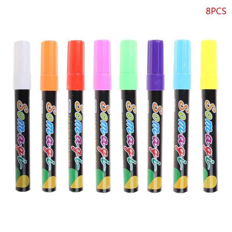 8 Colors Highlighter Fluorescent Liquid Chalk Marker Neon Pen For Led Writing Board Blackboard Glass Painting Graffiti Office Su Aliexpress