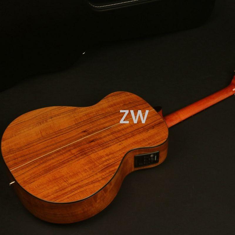 40in Hardmade Limated Edition Guitare Acoustique Electrique D Style Koa Haut Arriere Ecrou Et Selles Fishman 101 Grover Tune Aliexpress