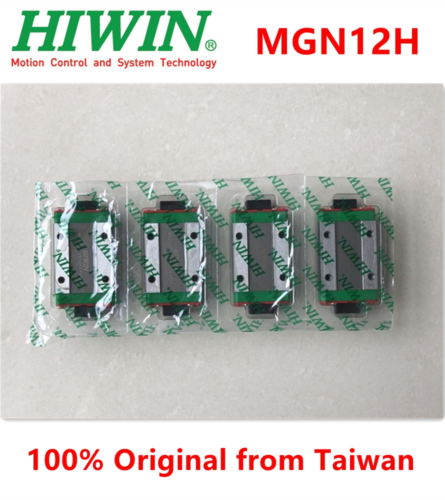 100% Original Hiwin Brand New MGN12H Linear Guide Block Carriage Bearing For MGN12 Linear Rail MGNR12 3D Printer DIY Cnc Parts