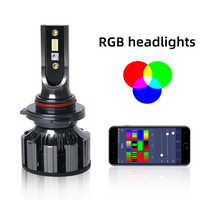 2Pcs H7 LED Car Headlight Bulb RGB Conversion Kit super bright Canbus Error Free Bulb White 13000LM 6000K 12V Auto LED Headl