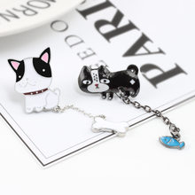 Korea Style Alloy Minyak DROP Bros Planet Set Seri Korsase Anti Eksposur Bros Tulang Anjing Suit Kerah Pin produk Baru(China)