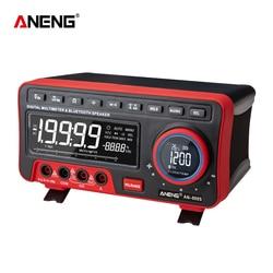 AN888S affichage LCD Type de banc multimètres numériques Volt Amp Ohm capacité Hz 19999 compte testeur de portée automatique haute précision