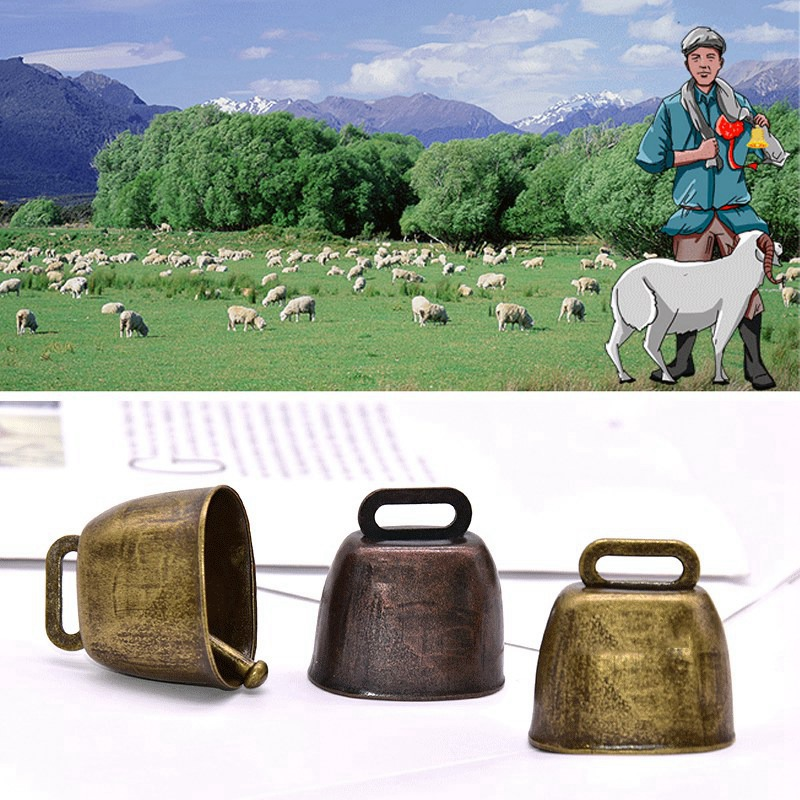 Cow Horse Sheep Grazing Copper Bells Cattle Farm Pet Animal Copper Loud Crisp Ring