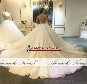 Image 4 - Full beading top body elegant wedding dress handmade high quality bridal dress 2020