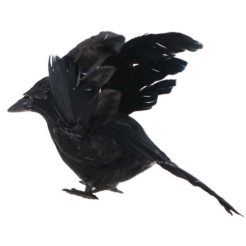 Хэллоуин искусственный черный ворона садоводство открытый драйв птицы инструмент вечеринка розыгрыш реквизит окно сделай сам декор бар орнамент принадлежности