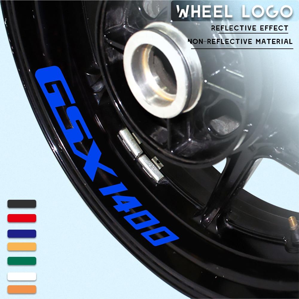 Новая наклейка на шину мотоцикла, Светоотражающая наклейка, украшение, классный Водонепроницаемый логотип для SUZUKI GSX1400 gsx 1400