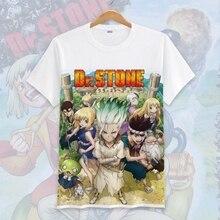Новая футболка для косплея Dr. stone аниме Ishigami Senku футболка Топы с короткими рукавами