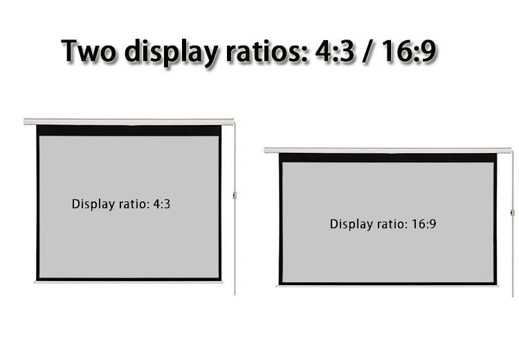 Thinyou 100 дюймов 16:9 матовая серая ткань стекловолокно кино моторизованный 3D проектор электрический экран настенный потолок крепление с пультом