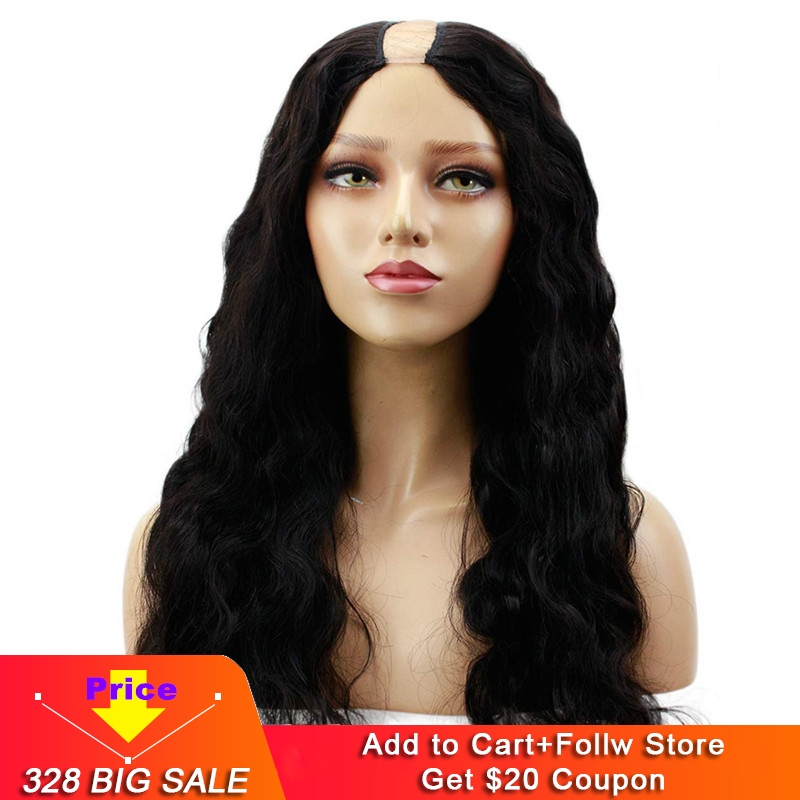 Eseewigs Body Wave U Part Wig Human Hair Brazilian Remy Hair Wigs For Black Women Middle 1x4 Inch Natural Color With Clips Combs