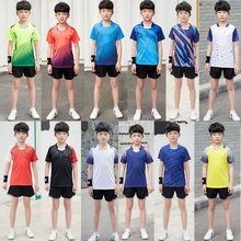 NWT Kids Badminton Sets Boys short sleeve Tennis shirt + Shorts Suit Girls Ping Pong Tops tee Children Running Gym Kit Clothes